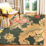 World Menagerie Arber Floral Handmade Tufted Wool Green/Brown Area Rug Wool in Brown/Green, Size 96.0 H x 60.0 W x 0.63 D in   Wayfair JAR324A-5