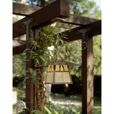 Millwood Pines Mannford 1-Light Outdoor Hanging Lantern Glass/Metal in Brown, Size 16.88 H x 15.0 W x 15.0 D in   Wayfair