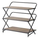 Latitude Run® Warthen Layer Kd Shelves - Black Wood in Black/Brown/Gray, Size 32.7 H x 34.3 W x 16.9 D in | Wayfair