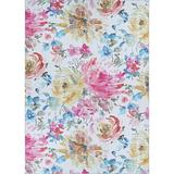 Winston Porter Boss Floral Magenta-Haze Area Rug Polyester in Pink, Size 120.0 H x 96.0 W x 0.28 D in   Wayfair 2956D1E7D6EF42F5B149997AE832366C