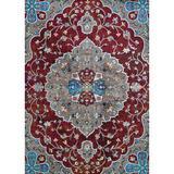 Bungalow Rose Douglus Hafiz Antique Runner Rug Polypropylene in Red, Size 66.0 H x 42.0 W x 0.35 D in | Wayfair 298460538CEA438BA40863CDD70BCCD6