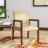 "Lesro Brooklyn 22.5"" W Vinyl Seat Waiting Room Chair w/ Wood Frame Vinyl/Wood in Gray/Brown, Size 34.0 H x 22.5 W x 23.5 D in | Wayfair"
