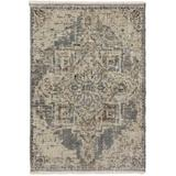 World Menagerie Prima Oriental Gray Area RugPolyester/Polypropylene in Brown/Gray, Size 96.0 H x 60.0 W x 0.2 D in   Wayfair