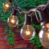 "Williston Forge Igor 240"" Outdoor 20- Bulb Standard String Light in Black | Wayfair 8547289FD9DA451CAADEE37397F59C61"