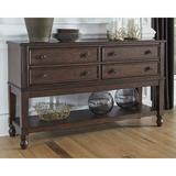 Charlton Home® Perei Buffet Table Wood in Brown, Size 34.0 H x 58.0 W x 17.0 D in   Wayfair A466E82BB0204C3986C5F29CF4979F6A