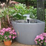 Williston Forge Taina Acrylic Above Ground Pond Kit w/ Light Acrylic in Gray, Size 20.0 H x 24.0 W x 26.0 D in | Wayfair