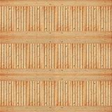 East Urban Home Striped Power Loom Wool Area Rug Polyester/Wool in Orange, Size 48.0 H x 48.0 W x 0.35 D in | Wayfair