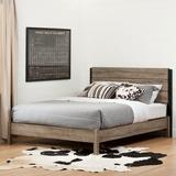 South Shore Munich Full Platform Bed Wood in Black/Brown/Gray, Size 58.11 W x 78.15 D in   Wayfair 12322