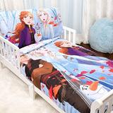 Disney Frozen II 3 Piece Toddler Bedding Set - Comforter, Fitted Sheet and Pillowcase