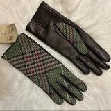 Burberry Accessories | Burberry Gloves Size 7 | Color: Brown/Green | Size: 7