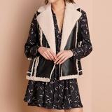 Anthropologie Jackets & Coats | Anthropologie Naomi Shearling Reversible Vest Nwot | Color: Black/White | Size: M