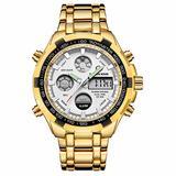 [Watches for Men ] GOLDENHOUR 108 Mens Watch - Casual Japanese Quartz Watches- Business Fashion Luxury - Digital Quartz Dual Time Display Wrist Watch (01)