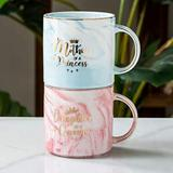Mother's Day Gift For Mom Daughter-Mother of A Princess Daughter of A Queen Funny Mom And Daughter Coffee Mug Set 12 OZ -Best Birthday Gift for Mother Daughter Matching Gifts Idea