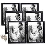 hierkryst 8x10 Picture Frame Black Picture Frames Made of Solid Wood for Table Top Display and Wall Mounting Photo Frame, Pack of 6