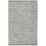 Dash and Albert Rugs Hobnail Polka Dots Handmade Flatweave Black/Gray Area Rug Polyester in Black/Brown/Gray, Size 108.0 H x 72.0 W x 0.5 D in