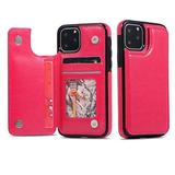 iPhone 11 Wallet Case iPhone 11 Pro Wallet Case iPhone 11 Pro Max Wallet Case iPhone Case Magnetic Credit Card Holder iPhone 11 Case iPhone 11 max case iPhone 11 Max Pro (Hot Pink, iPhone 11)