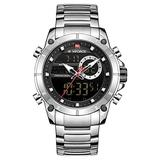 [Watches for Men ] NAVIFORCE 9163 Mens Watch - Business Fashion Luxury - Digital Quartz Dual Time Display - Casual Japanese Quartz Watches (02)