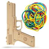 Rubber Band Guns | Boys Toys for Outdoor Indoor Game | Wooden Toy Guns | Best Gift for Men | Wooden Pistol for Shooting Game | Kids Toys for Pretend Play | Gag Gift | Toy Gun (Glock)