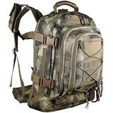 Paladins Backpack Large Work Backpack Military Camo Backpack Molle System Waterproof for Men (Dark Brown Atacs)