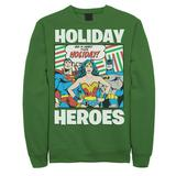 Men's DC Comics Justice League Holiday Heroes Christmas Sweatshirt, Size: XL, Med Green