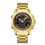 [Watches for Men] NAVIFORCE 9170 Mens Watch - Luxury Fashion Sport Military - Digital Dual Time Display - Casual Japanese Quartz Watches (01)