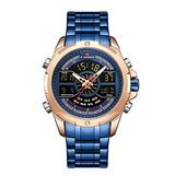[Watches for Men] NAVIFORCE 9170 Mens Watch - Luxury Fashion Sport Military - Digital Dual Time Display - Casual Japanese Quartz Watches (02)
