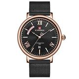 [Watches for Men] NAVIFORCE 3006 Mens Watch - Luxury Classic - Analog Watch Dial with Date - Casual Japanese Quartz Watches (03)