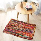 Cotton Braided Multi Chindi Rug, Hand Woven Rug, Kids Rug, Reversible Chindi Rug Suitable for Kitchen, Living Room, Bedroom, Rug Pad Runner, Eco Friendly 100% Recycled - 24x36 Multi
