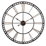 Tower XXL Wall Clock 40 inch Open Face Wall Clock Infinity Instruments Large Metal Clock Quartz Movement Tower Huge Clock (Bronze)