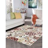 Dilek Ivory Machine Washable Large 8x10 Area Rug for Living Room and Bedroom Modern Carpet - Alfombras para Salas Grandes Modernas
