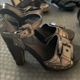 Burberry Shoes   Burberry Heels   Color: Brown/Silver   Size: 9