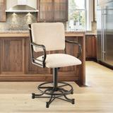 "Darby Home Co Durrah Swivel Bar & Counter Stool Seat Height: Counter Stool (26"" Seat Height), Upholstered/Metal | Wayfair"