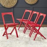 TMS Bonus Wood Folding Chair in Red, Size 31.3 H x 15.5 W x 19.9 D in | Wayfair 74918RED4