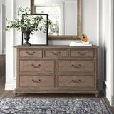 Kelly Clarkson Home Diane 7 Drawer Dresser Wood in Brown/Gray/Red, Size 38.0 H x 66.0 W x 19.0 D in | Wayfair 9117B187A4FE46C7986487671C8A2B8B