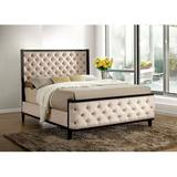Canora Grey Reinke Tufted Upholstered Low Profile Standard Bed Metal in Brown, Size 65.38 W x 87.0 D in   Wayfair E72E242BB26B43D2AE11B1B297340238