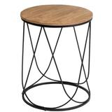 Brayden Studio® Bergerac Abstract End Table Wood/Metal in Black/Brown, Size 23.62 H x 19.0 W x 19.0 D in   Wayfair 2BC954DA13A44CC4AF8682EC6F6C49EC