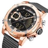 [Watches for Men ] NAVIFORCE 9172s Mens Watch - Business Fashion Luxury - Digital Quartz Dual Time Display - Casual Japanese Quartz Watches (06)