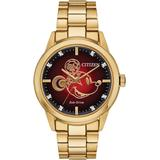 Disney By Eco-drive Unisex Diamond Accent Gold-tone Stainless Steel Bracelet Watch 40mm- A Limited Edition - Metallic - Citizen Watches