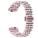 NICERIO Compatible for Fitbit Inspire HR, Watch Strap - Stainless Steel Broad Brim Simplicity Smart Watch Replacement Band Wristband Watchband Wristwatch Watches Strap
