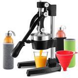 Joytable Citrus Juicer in Black, Size 7.6 H x 11.7 W x 17.4 D in   Wayfair Wayfr_SD1015B