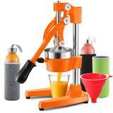 Joytable Citrus Juicer in Orange, Size 7.6 H x 11.7 W x 17.4 D in | Wayfair Wayfr_SD1015O