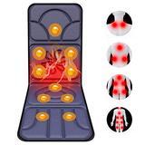ZHHID Massage Mat for Full Body, Massage Mat for Chair, Foldable Massage Mat, Shiatsu Back Massager with Heat, 5 Massage Method