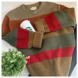 American Eagle Outfitters Sweaters   American Eagle Outfitters Mens Lambswool Sweater   Color: Green/Red   Size: Xl