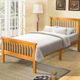 August Grove® Malibu Twin Solid Wood Platform Bed Wood in Brown/Green, Size 42.9 W x 80.2 D in | Wayfair F45D98215947482EA7A83C66FF9C7C3F