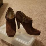 Jessica Simpson Shoes | Jessica Simpson Brown Suede Shoe Boot | Color: Brown | Size: 8