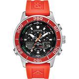 Promaster Sailhawk Analog-digital Orange Polyurethane Strap Watch 44mm - Orange - Citizen Watches