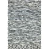 Laurel Foundry Modern Farmhouse® Grassmere Abstract Handmade Flatweave Jute Blue/Ivory Area Rug Jute & Sisal in Brown/White | Wayfair
