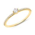 Ring für Damen aus 14K Gold mit Weißtopasen