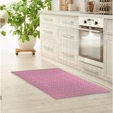 Foundry Select Powersville Kitchen Mat Synthetics in White, Size 0.08 H x 24.0 W x 36.0 D in   Wayfair D324DB40C42341A5B9BC7ABC7A634A73