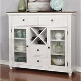 "Rosalind Wheeler Stiles 52"" Wide 4 Drawer Sideboard Wood in Brown/White, Size 48.0 H x 52.0 W x 17.0 D in   Wayfair"